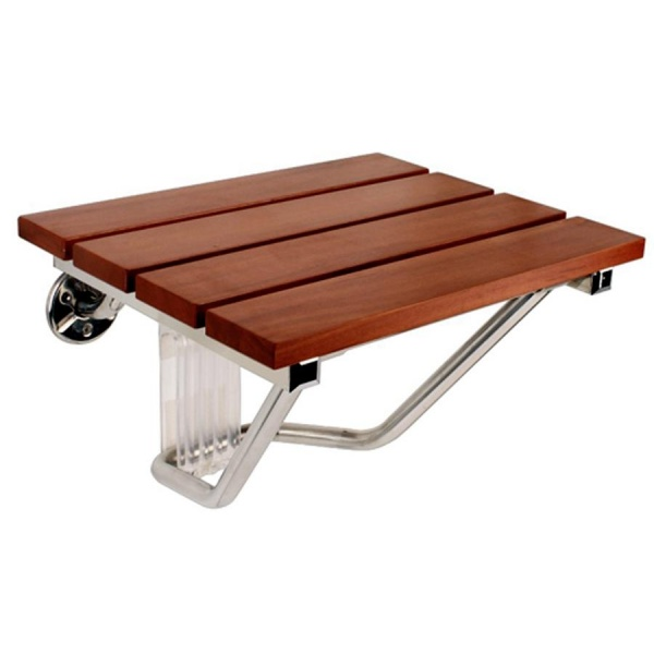 Teak Wood Wall Mounted Shower Seat