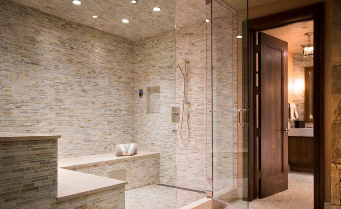 What tiles to use with steam showers for Build steam shower