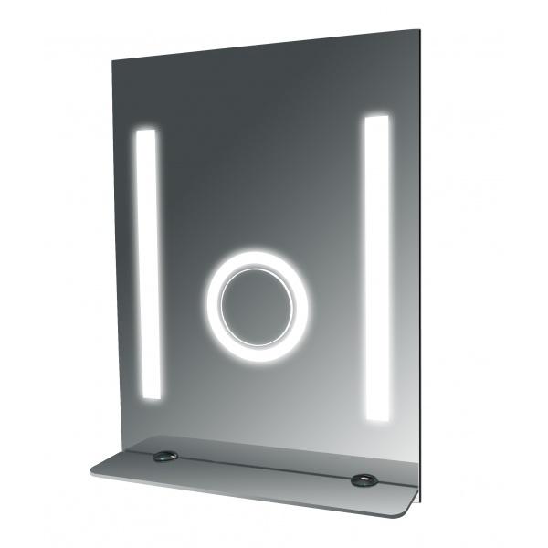 Tall Fog Free Bathroom Mirror With Glass Shelf Steam